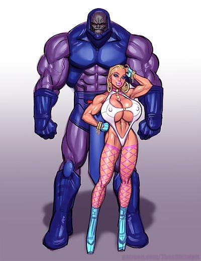 Power Girl vs Darkseid